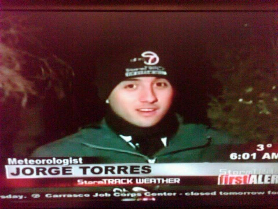 One of my live hits outside of KVIA-TV studios in El Paso, Texas during the February Freeze…