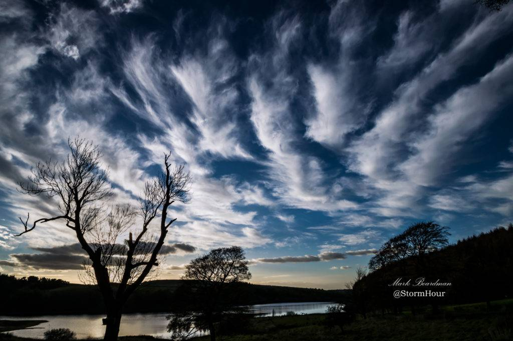 Cirrus clouds over east Cheshire