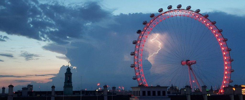 1st Place Lightning at dusk. London. by Stephen Prout @proutstephen