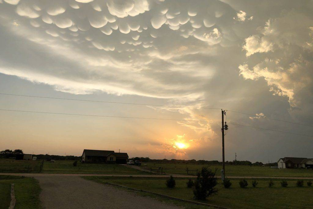 3rd Place Mammatus over Butler County, Kansas by Laurie M. @LaurieMit