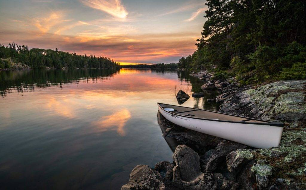 3rd Place Sunset through the smoke of a nearby forest fire - Northwest Ontario by Gordon Pusnik @gordonpusnik