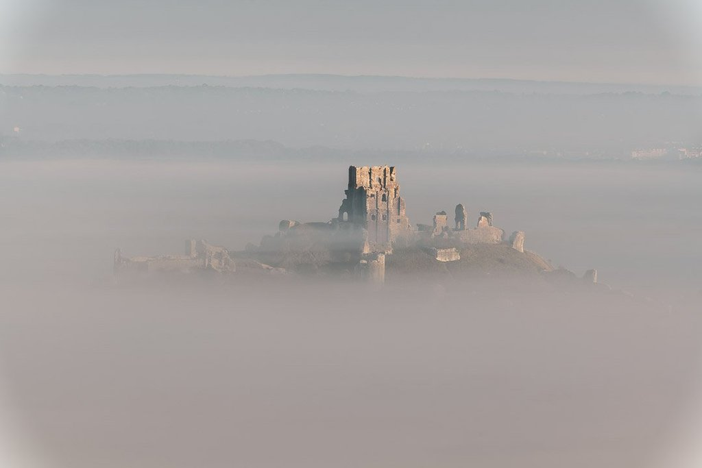 1st Place Emerging from the fog Corfe Castle Dorset by Andy Lyons Lyonsphotos uk fb9232d4 4e88 43ba ae49