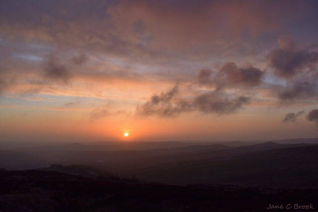 1st Place A misty morning sunrise over Huddersfield in West Yorkshire by Jane Brook @jayceb19