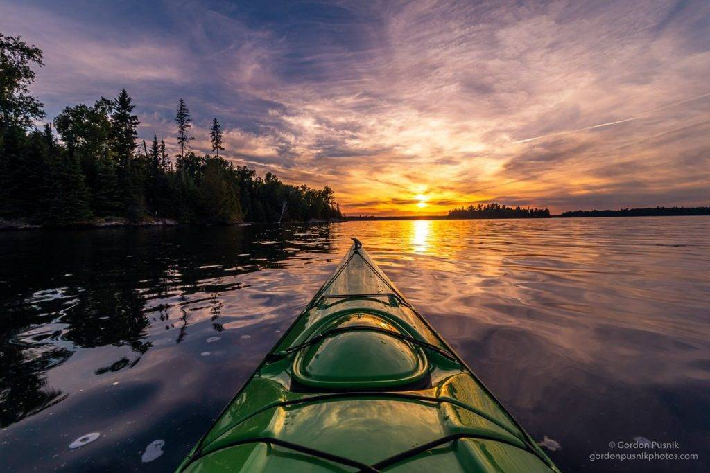 1st Place A sunset while out on the water in N.W. Ontario by Gordon Pusnik @gordonpusnik