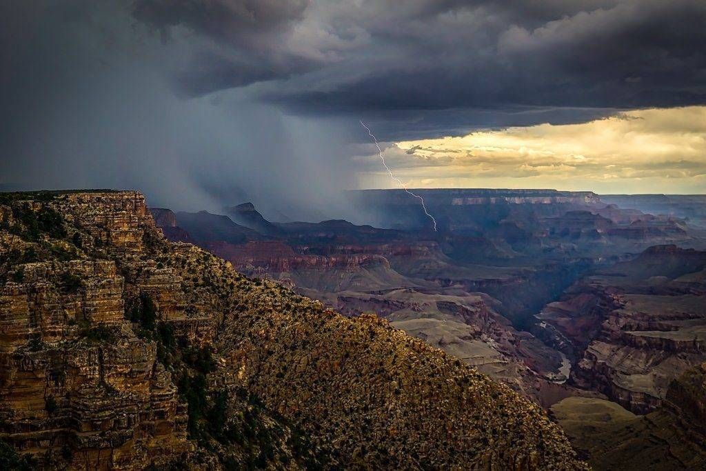 1st Place Capturing lightning in the Grand Canyon during the 2017 Arizona Monsoon by Scott Wood @Scott_Wood