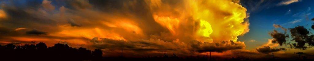Panorama of Late Summer Storm