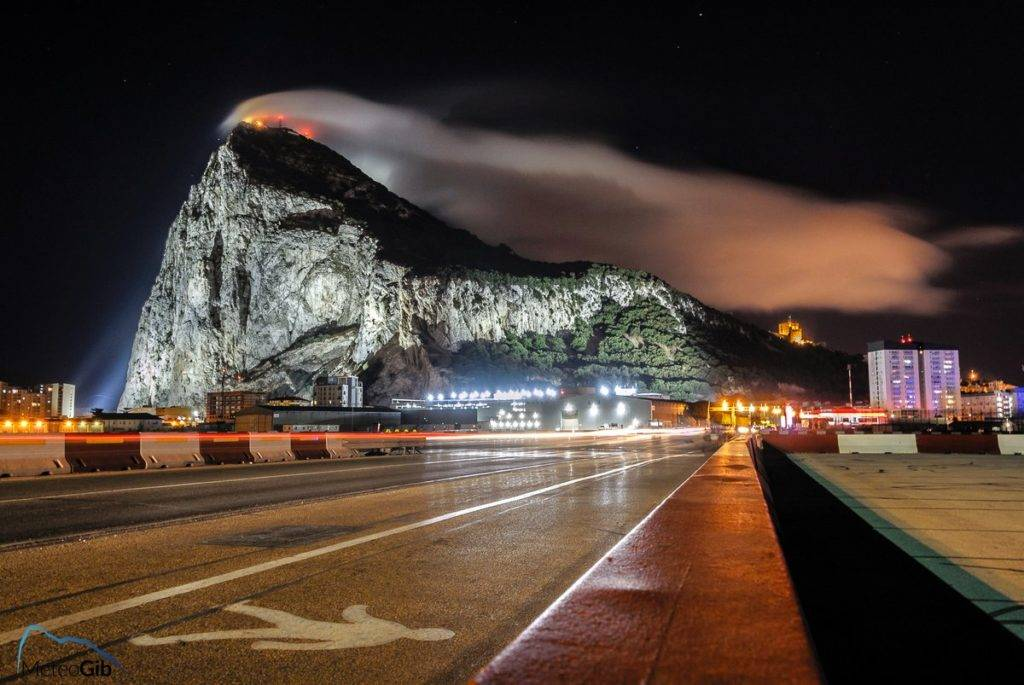1st Place MeteoGib @MeteoGib the return of the Gibraltar Levanter cloud after a spell of Westerly winds - captured early on Sun 02/07