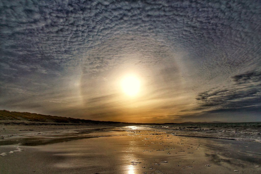 1st Place Sun halo lighting the Hebridean shore by DaliMach StormPod @frenchscotjeff