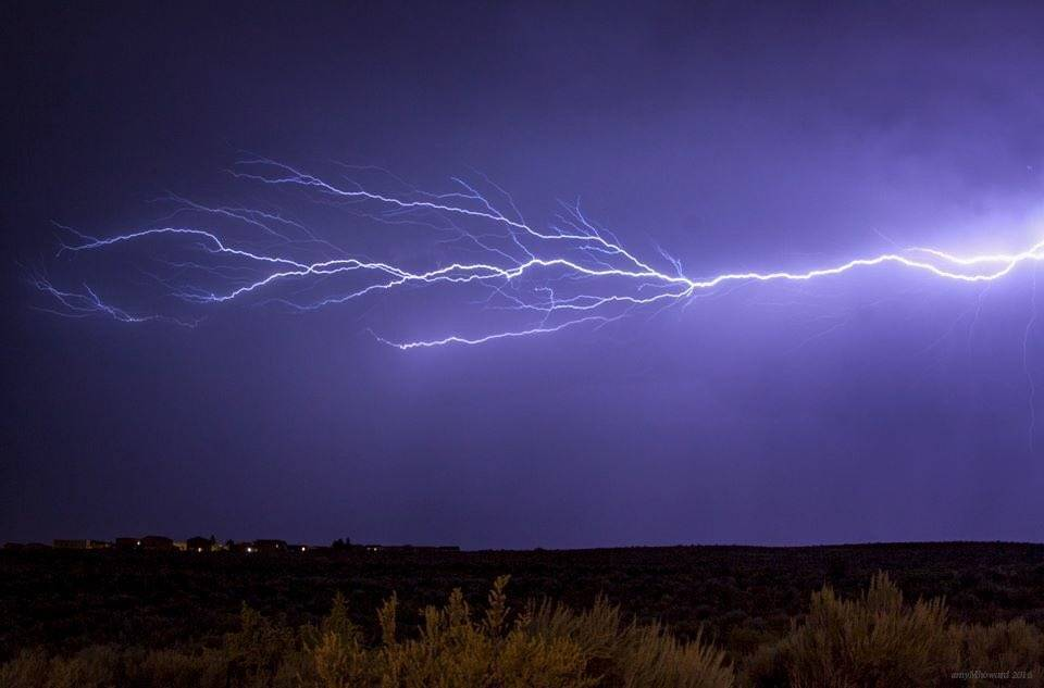 """#ABQ's light show last night!"" Albuquerque, NM"