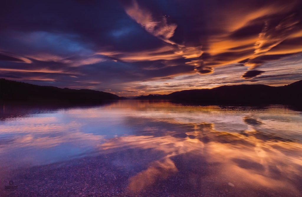 2nd Place A monster of a sunset over Loch Ness by Impact Imagz @ImpactImagz