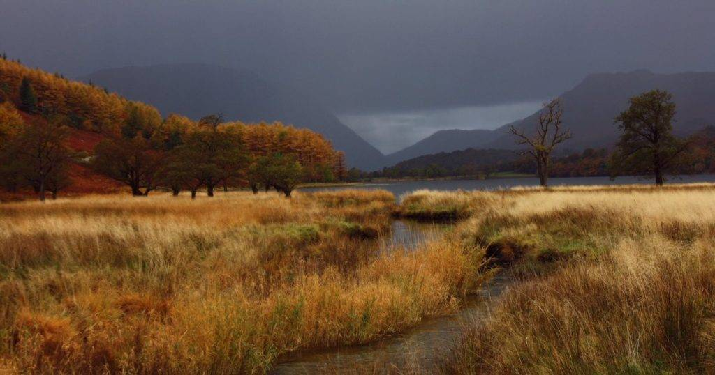 A very moody Buttermere following torrential downpour