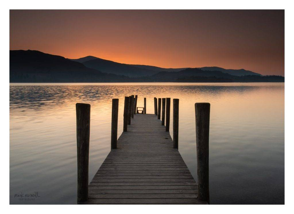 2nd Place Ashness jetty derwent water at sunset by mmcneillphotography @marksmcneill
