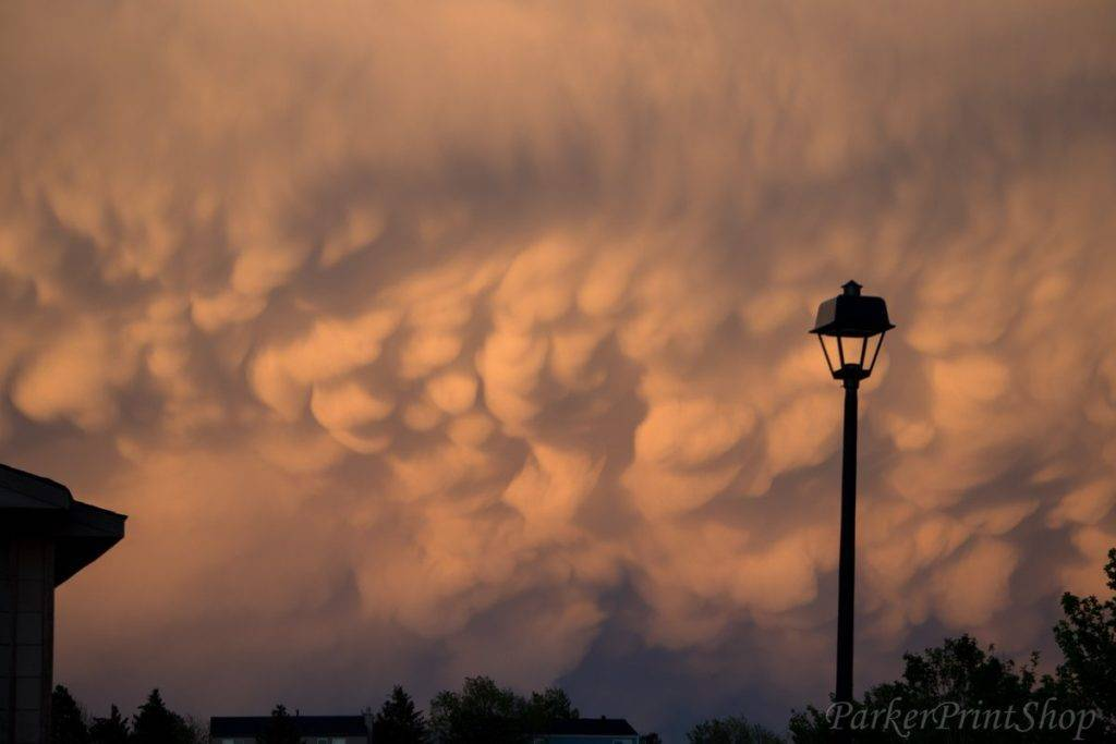 2nd Place Dennis Stephens @ParkerTechGuy Mammatus Clouds from Parker, Colorado