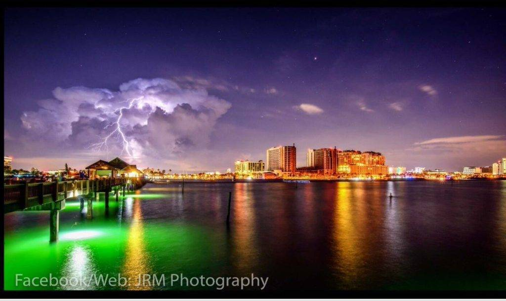 Storm on holiday in Clearwater Beach
