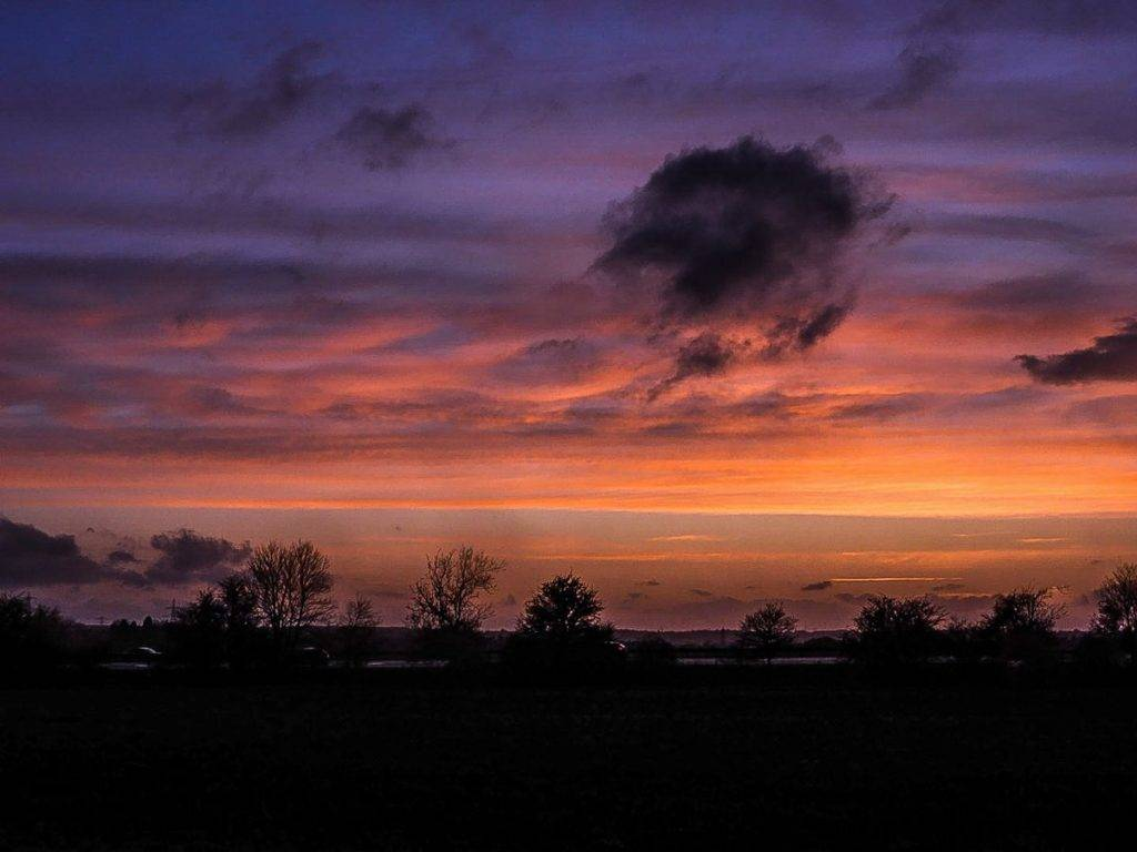 2nd Place Sunset after glow at Graveley, Hertfordshire by Carla Sears @CarlaSears