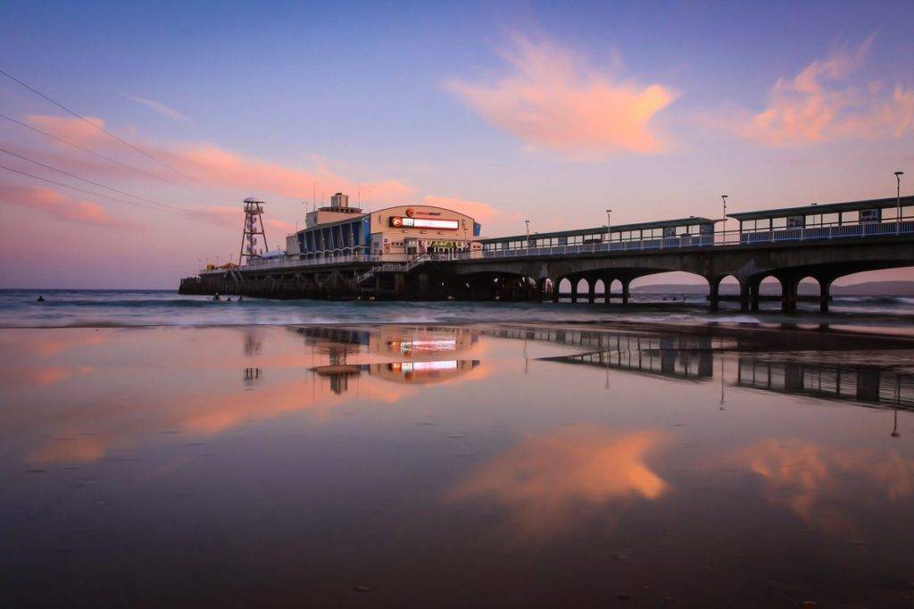 2nd Place Sunset reflections from Bournemouth beach by Rachel Baker @Saintsmadmomma