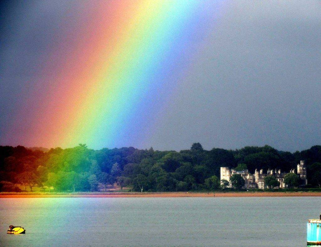 3rd Place Ali @AliDiva_ Pot of gold at the end of the rainbow in Hythe, Hampshire