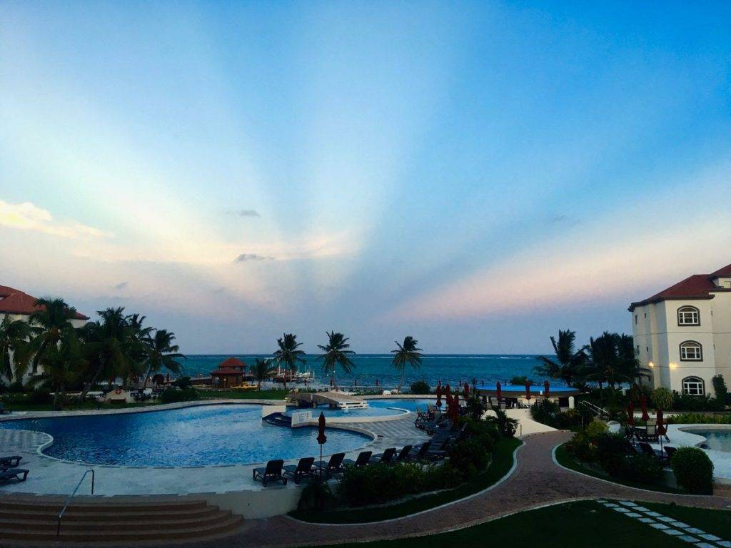 3rd Place Anticrepuscular rays above the Caribbean Sea. San Pedro Belize by D Malone McMillan @EzekielANovel