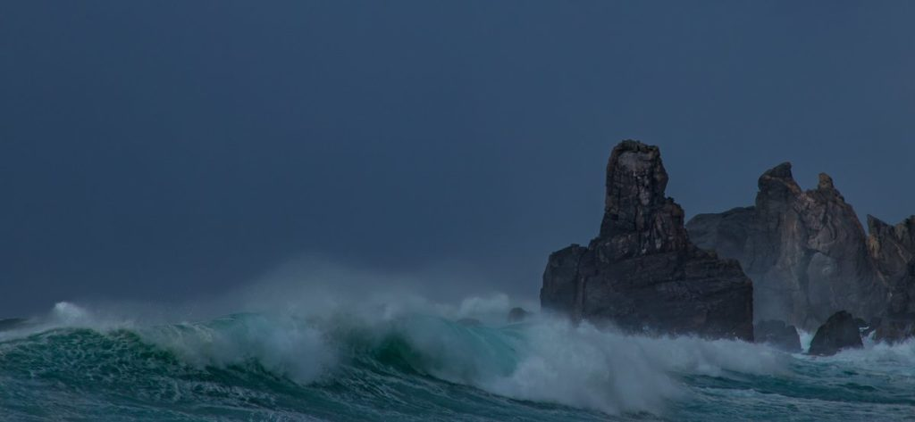 3rd Place Dalmore Beach being battered by an Atlantic gale by Impact Imagz @ImpactImagz