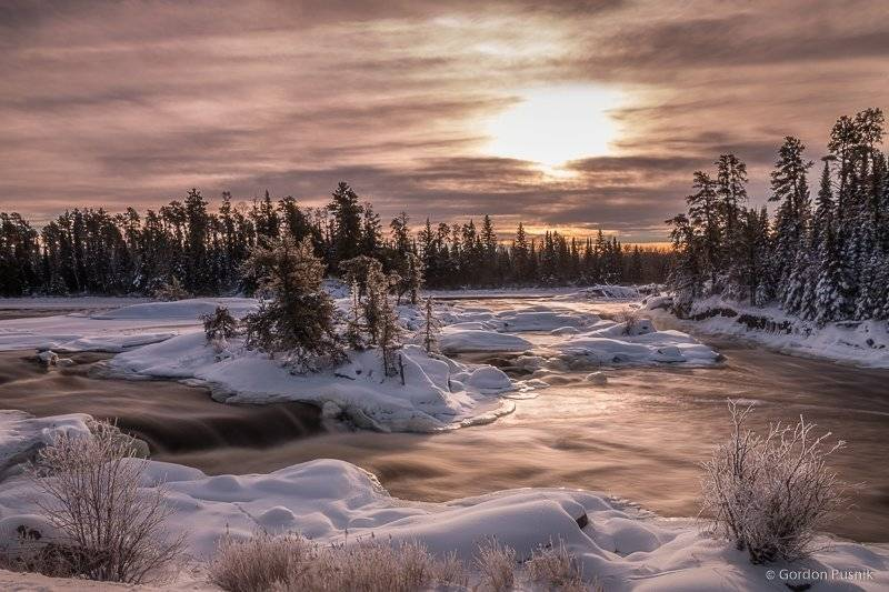 A snowy Northern Ontario