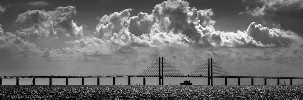 3rd Place Michael Niessen @MNiessenPhoto Container ship passing under the Øresund bridge