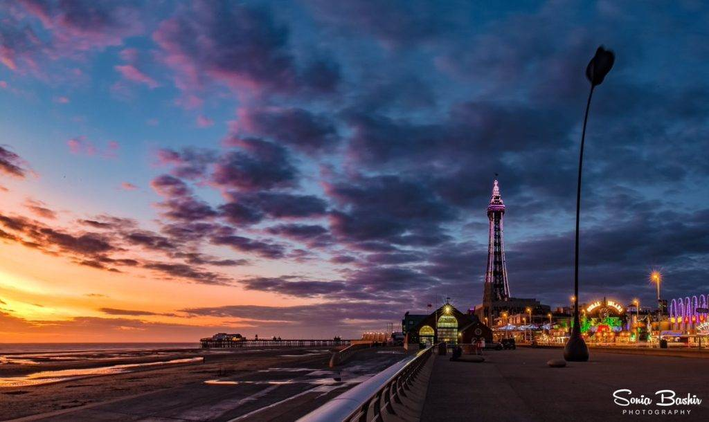 3rd Place Sonia Bashir @SoniaBashir_ Beautiful colours of twilight and sunset in Blackpool