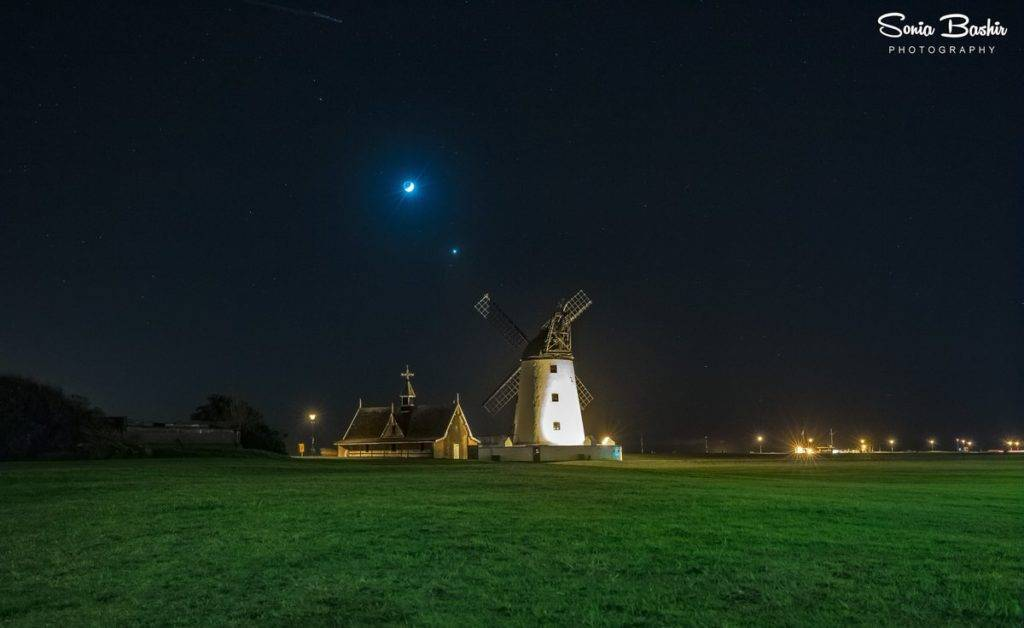 3rd Place Sonia Bashir @SoniaBashir_ Lytham Windmill by night...