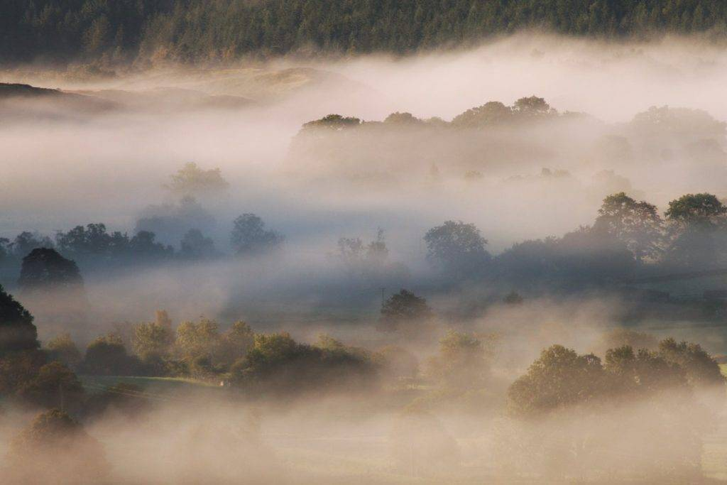 """""""Through The Mist"""" looking out from Castlerigg Stone Circle The Lake District"""