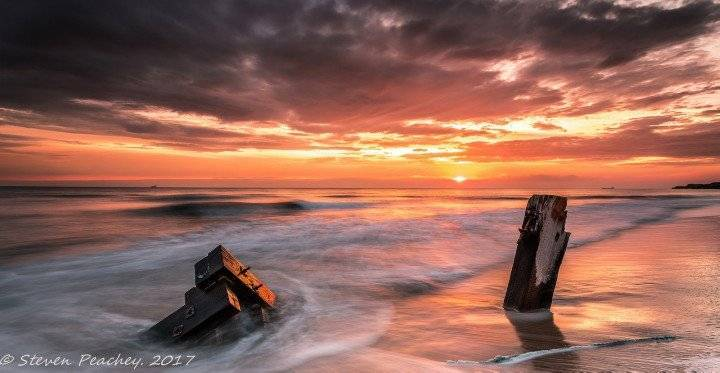 3rd Place Steven Peachey @stevenhawk1 This was a beautiful sunrise at north sands - Hartlepool in the North East coast of the UK