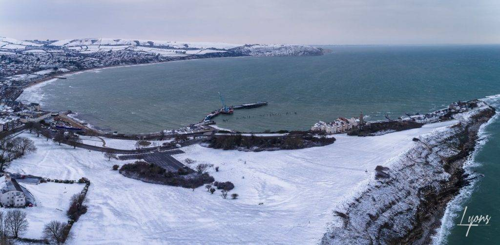 3rd Place Swanage in the snow by Andy Lyons @Lyonsphotos_uk