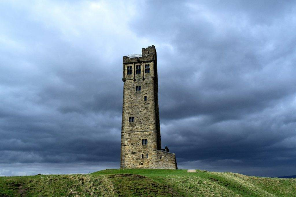3rd Place Victoria Tower, Castle Hill with a backdrop of stormy April sky. Huddersfield, West Yorkshire by Jane Brook @jayceb19