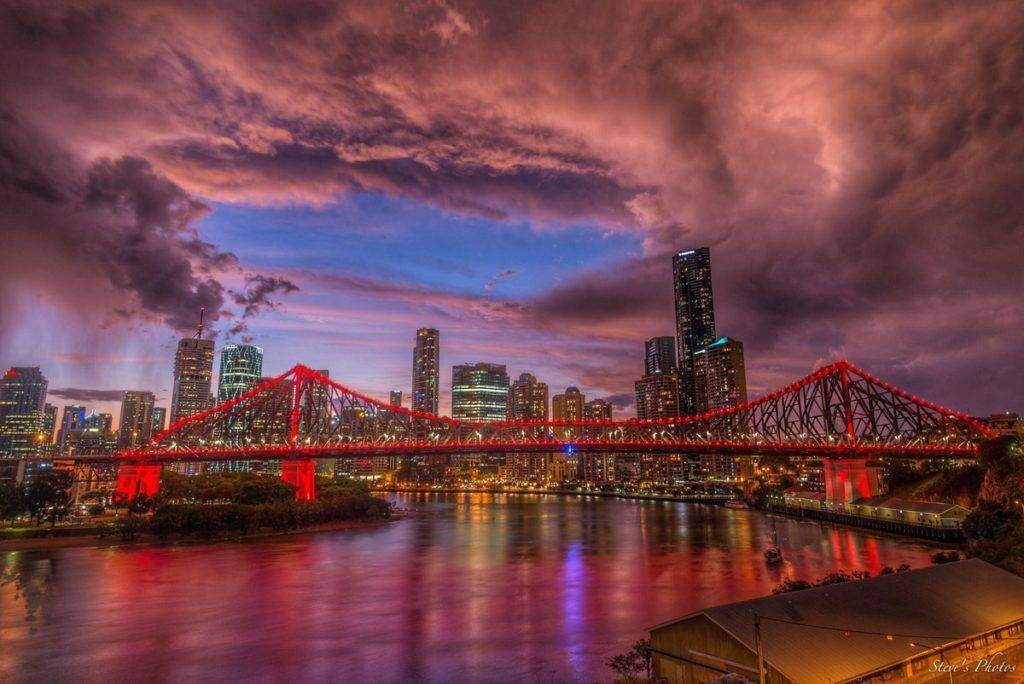 A moody sunset after a storm in Brisbane, Queensland Australia by Steve Berardi @Marcus_0312