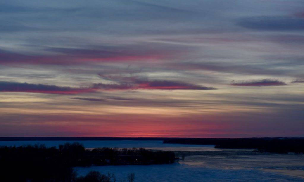Clouds light up the evening over the Ottawa River by Bente Nielsen @BentePRPhotoGal