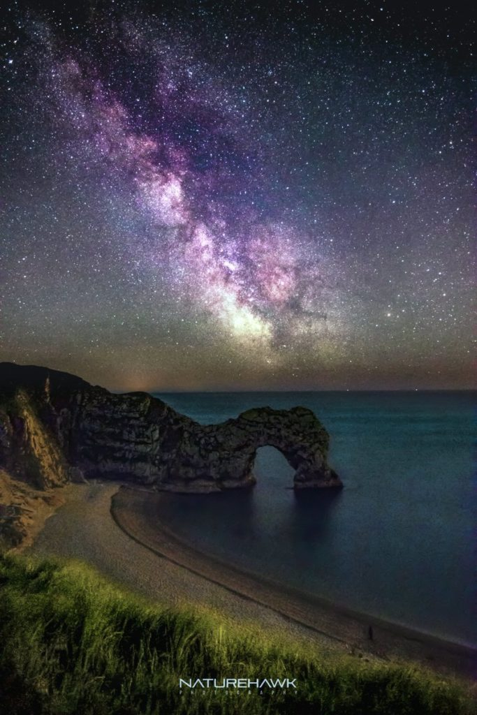 Durdle Door under the Milky Way by Naturehawk Photo @NaturehawkPhoto