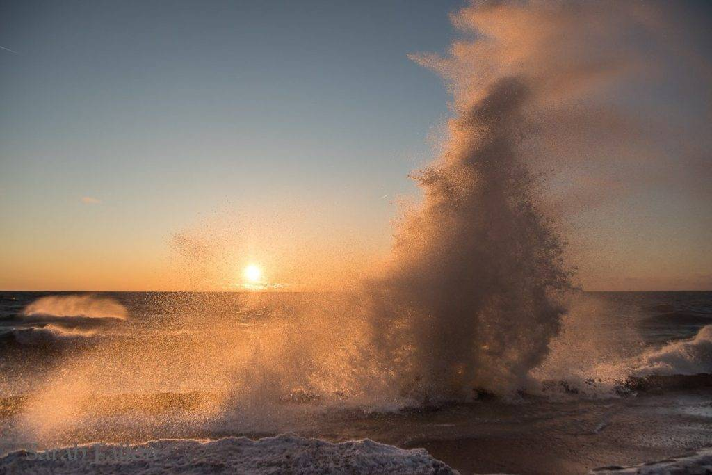 In like a lion, out like a lamb. Sunrise on Lake Michigan by Sarah Fallon @photogforestldy