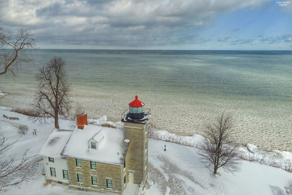 Lake Ontario shoreline at the 1871 Sodus Bay Lighthouse John Kucko @john_kucko