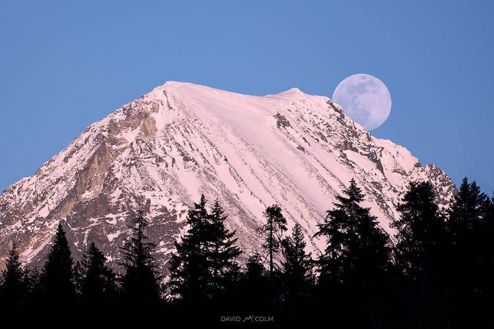 Moonrise over Wedge Mountain, Whistler, BC by David McColm @triwhistler