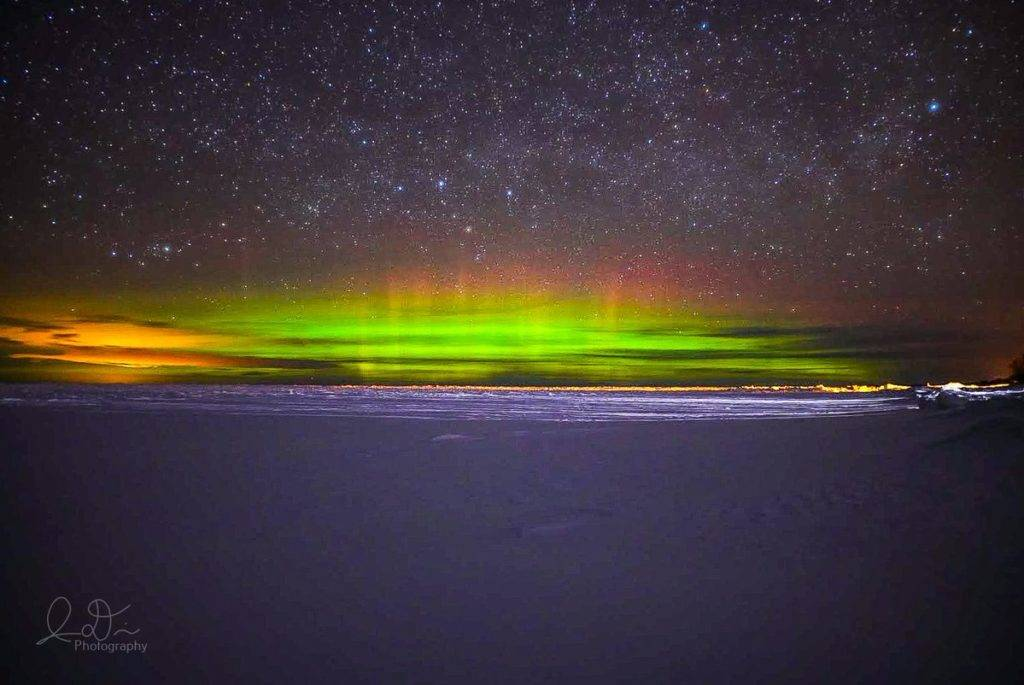 Northern Lights over Lake Superior around 3:30am at Calumet Waterworks Park in Calumet, MI by isaac @ID_Photo_Graphy