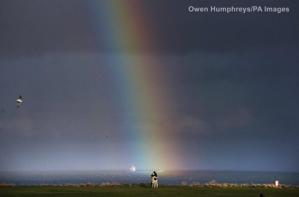 Rainbow at Whitley Bay by Owen Humphreys @owenhumphreys1