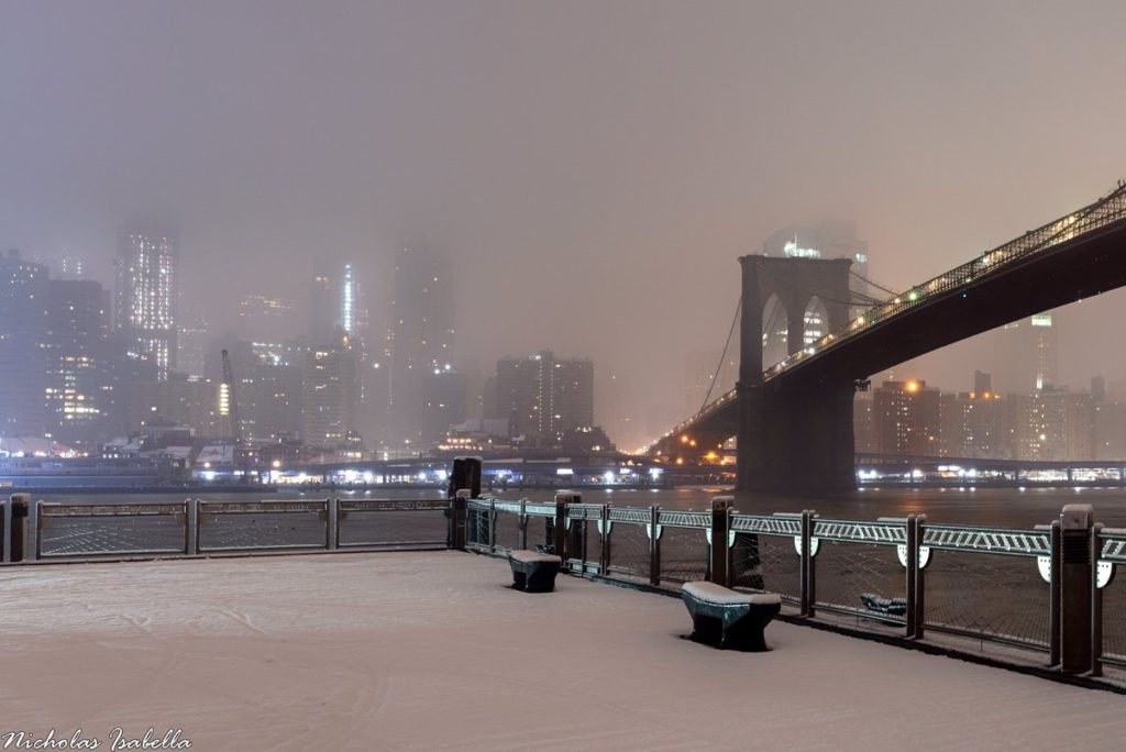Snow from Brooklyn Bridge Park by Nicholas Isabella @NycStormChaser