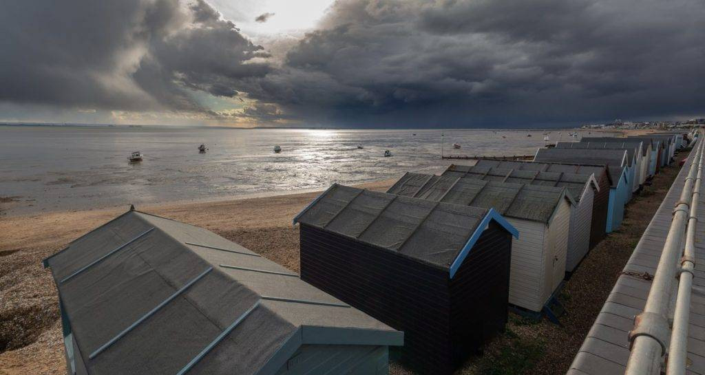 Storm front rolling down the Thames towards Thorpe Bay by Andy @1AndyPix