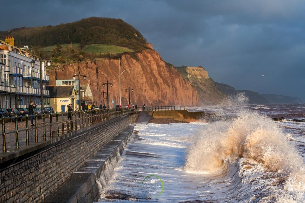 StormFreya at Sidmouth by Gary H Photography @GaryHolpin