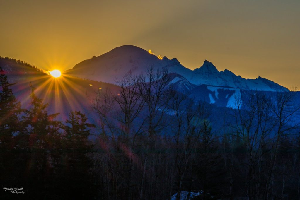 Sunrise over Mount Baker from Bellingham, WA by Randy Small @RandySmall