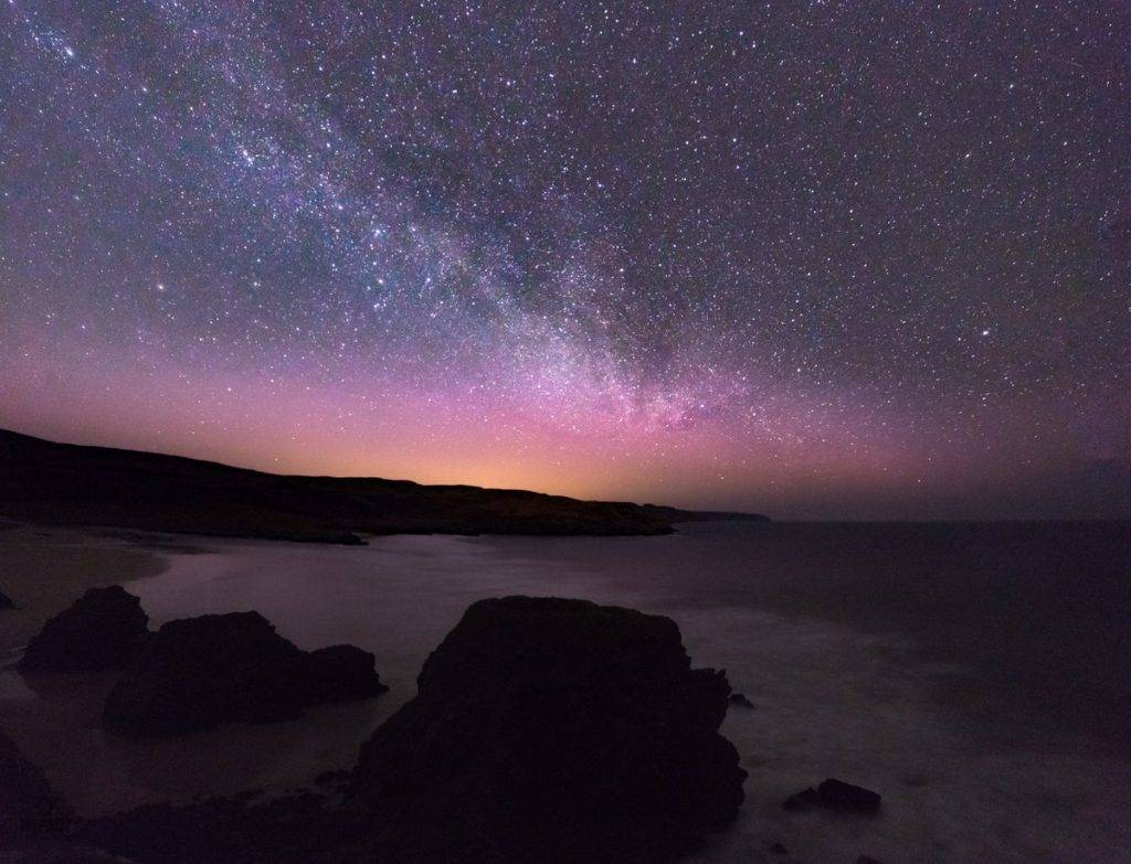 1st Place The northern Lights and Milky Way over Scotland by Impact Imagz @ImpactImagz