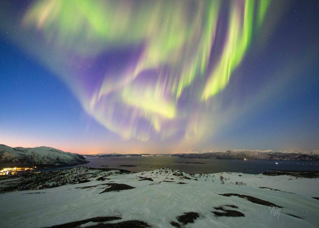 2 coronas and a 4 hour show on Senja Island, Norway by Adrien Mauduit @ADphotography24