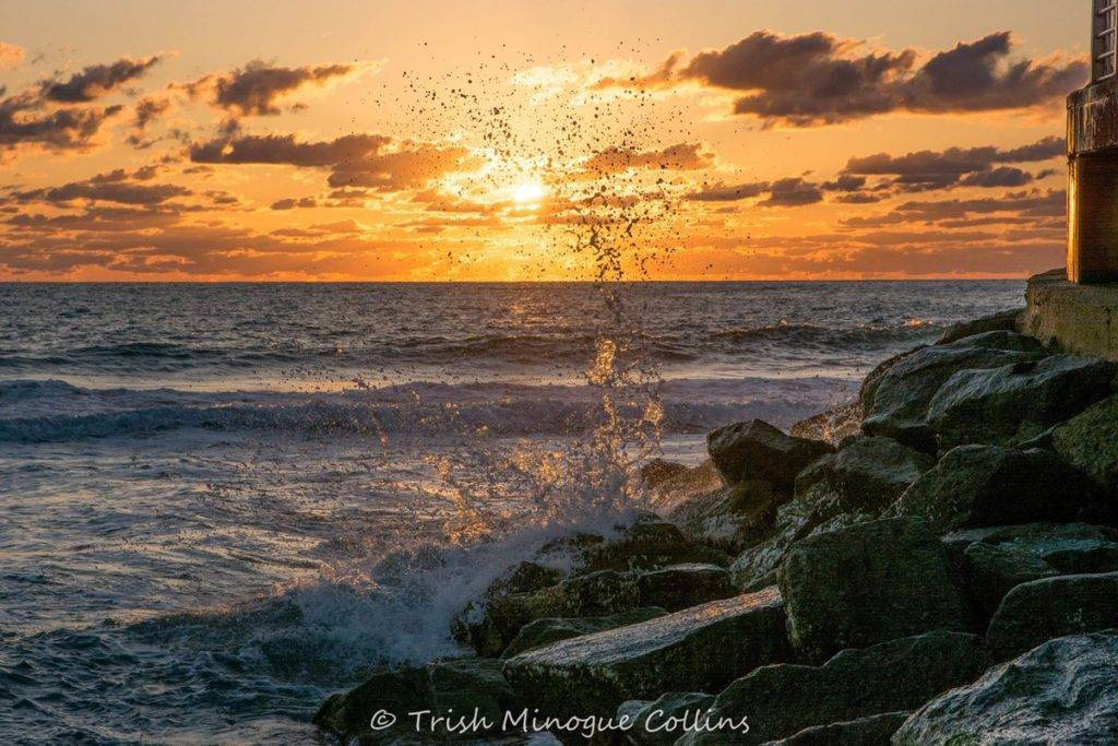 2nd Place Sunrise splash, Sebastian Inlet, FL. by Trish MinogueCollins @TrishMinogPhoto