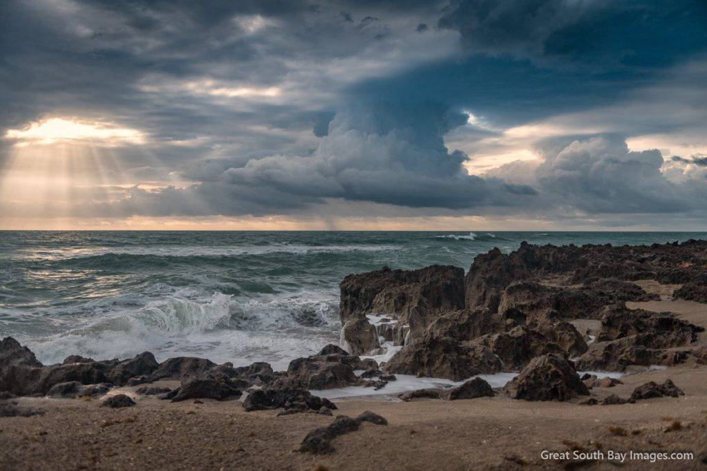 3rd Place Sunrays and surf - Hutchinson Island FL by Mike Busch/Greatsouthbayimages @GSBImagesMBusch