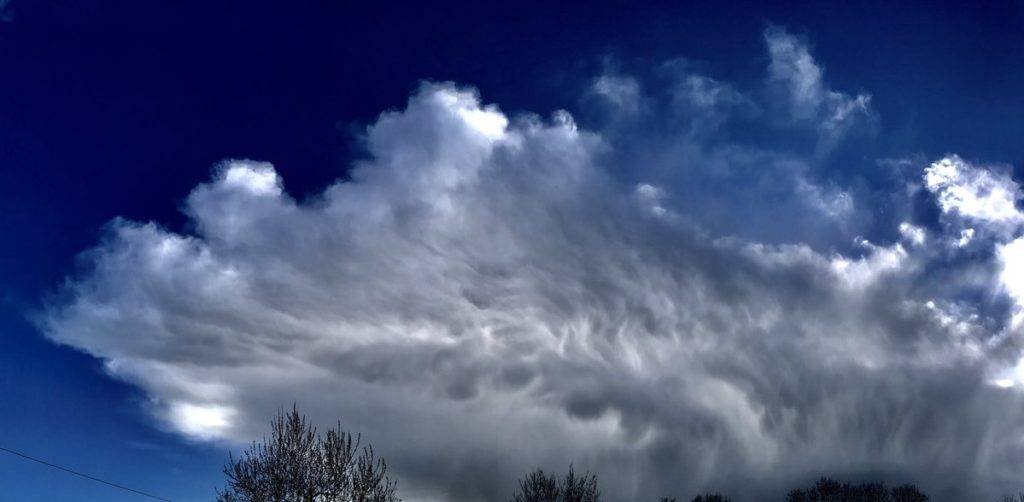 A dramatic Mammatus cloud formation with a lot of energy passing over Teconnaught by PAUL MOANE @paulmoane
