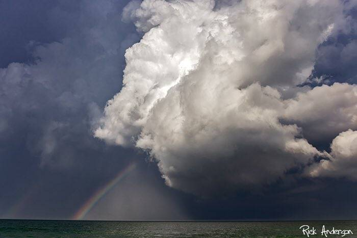 A storm lingers just offshore and puts on a show by Rick Anderson @RickAndersonOBX