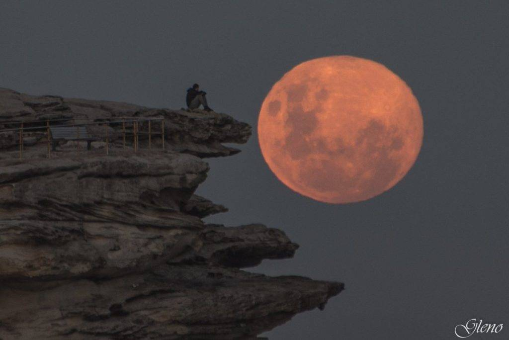 Adoring that full moon . Sydney Australia by Glen Anderson @Gleno_